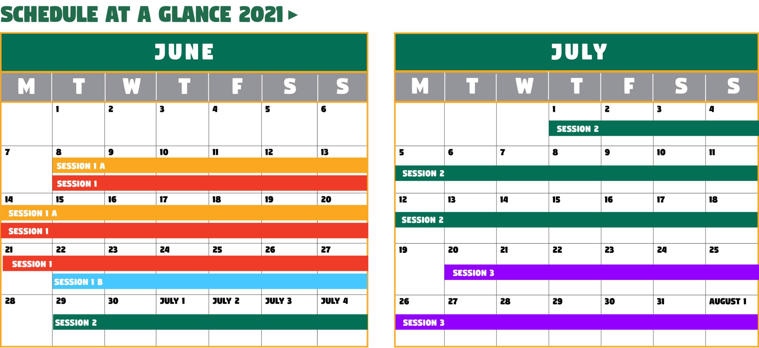 Summer 2021 Calendar